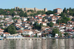 Lake And Old Ohrid, Republic Of Macedonia Stock Images