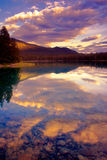 Lake Anette. This is a beautiful lake near Jasper, Alberta, Canada Royalty Free Stock Photo