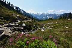 Lake Ann Trail, Mt. Baker-Snoqualmie National Forest royalty free stock images