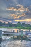 Lake Anna. An hdr shot of the sunset over lake anna, virginia Royalty Free Stock Photo