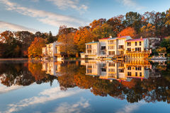 Lake Anne Reston Virginia Lakefront Townhomes Stock Photo