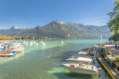 Lake in annecy Stock Photography