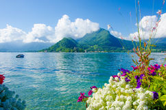 Lake Annecy France. Beautiful scenic at Lake Annecy in France Stock Images
