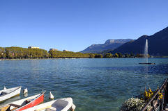 Lake of Annecy in france Stock Images