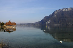 Lake of Annecy in france Stock Photography