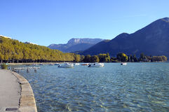 Lake of Annecy in france Royalty Free Stock Photo