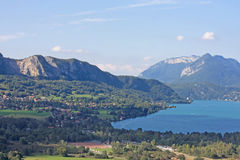 Lake Annecy, France. South shore of Lake Annecy Stock Image