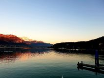 Lake of Annecy, France stock images