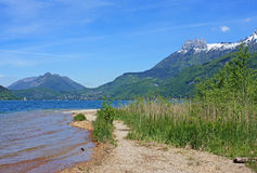 Lake Annecy. In the French Alps in  spring Royalty Free Stock Image