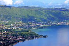 Lake Annecy. Looking down on  Lake Annecy, France Stock Images