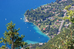Lake Annecy. Looking down on Lake Annecy in france Royalty Free Stock Images