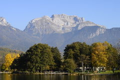 Lake of Annecy and Tournette mountain, in france Stock Images