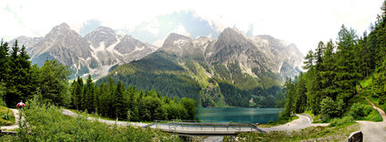 The Lake Anterselva, Italy Royalty Free Stock Images