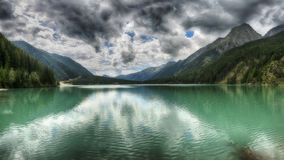 Anterselva, Landscape of the lake in the mountains Stock Images