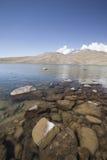 Lake Aparan below mountain Aragac in Armenia Royalty Free Stock Photo