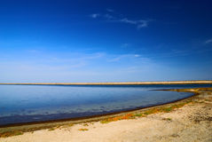Lake in Arabat Spit Royalty Free Stock Image