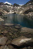 Lake in Aragon Pyrenees. Glacial lake in Aragon Pyrenees Stock Photography