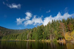 Lake Arber in Bavaria, Germany during Fall. (Grosser Arbersee) Royalty Free Stock Image