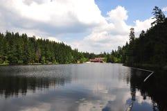Lake Arber in Bavaria (Grosser Arbersee). Beautiful Lake Arber in Bavaria (Grosser Arbersee Royalty Free Stock Photo