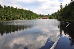 Lake Arber in Bavaria Grosser Arbersee. Beautiful Lake Arber in Bavaria Grosser Arbersee Stock Photos