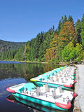 Lake arbersee in the bavarian forest. Great lake arbersee in the bavarian forest,bavaria,germany Royalty Free Stock Photos