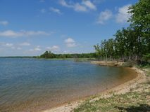 Lake Arbuckle, Oklahoma. Scenic view of one side of the Lake of the Arbuckles, one ideal destination in Oklahoma Royalty Free Stock Image
