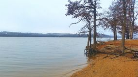 Lake of the arbuckles. Arbuckle lake in winter Stock Images