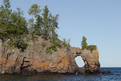 Lake Arch. Arch on Lake Superior - Tettegouche State Park stock photos