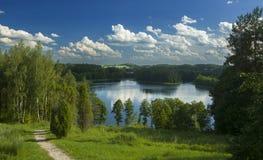 Lake area in Aukštaitijos national park, Lithuania royalty free stock image