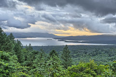 Lake Arenal. From the slopes of the Arenal Volcano, Costa Rica Royalty Free Stock Image