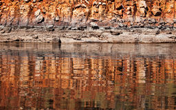 Lake Argyle reflections Stock Image