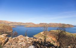 Beautiful Lake Argyle in Western Australia royalty free stock photography