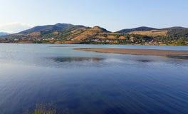 Lake arround the village. On Bistrita river valley, Romania Royalty Free Stock Photography