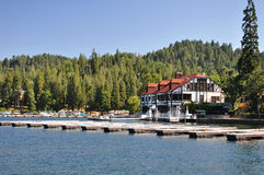 Lake Arrowhead. Beautiful Lake Arrowhead is located in the San Bernardino National Forest in the mountains of Southern California Stock Photos