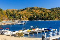 Lake Arrowhead. At Autumn with blue sky Stock Photo