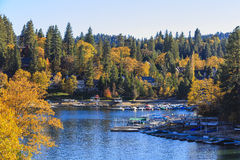 Lake Arrowhead. At Autumn with blue sky Stock Photography