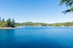 Lake Arrowhead, California. Scenic Lake Arrowhead resort village California USA Stock Image