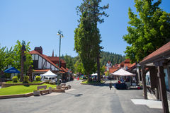 Lake Arrowhead Village Stock Image