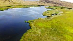 World map lake, Armenia stock video