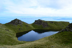 Lake As Seen from Old Man of Storr. Lake in the Highlands of Scotland as seen from Old Man of Storr Royalty Free Stock Photography