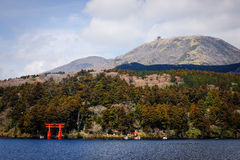 Lake Ashi of Hakone, Japan. Stock Photo