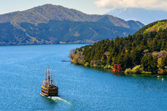 Lake Ashi landmark, Hakone stock photo