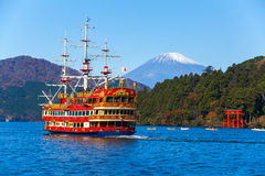 Lake Ashi and Mountain Fuji Royalty Free Stock Image