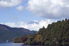 Lake Ashi and Mt. Fuji, Japan Royalty Free Stock Images