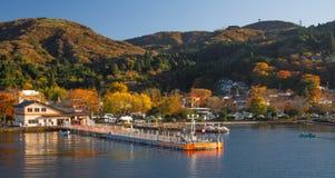 Lake ashinoko in full autumn glory Stock Photos