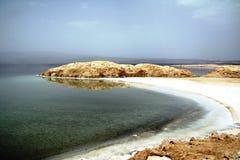 Lake Assal - background Stock Photo