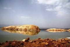 Lake Assal - background Royalty Free Stock Image
