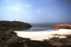 Lake Assal - background Stock Images