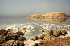 Lake Assal - background Royalty Free Stock Images