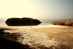Lake Assal - background Royalty Free Stock Photos